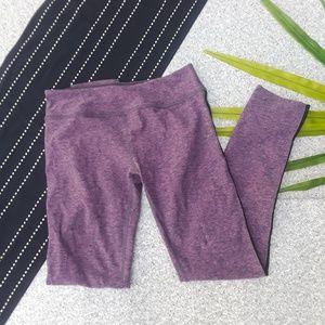 {Beyond Yoga} Purple Mesh Side Long Leggings L